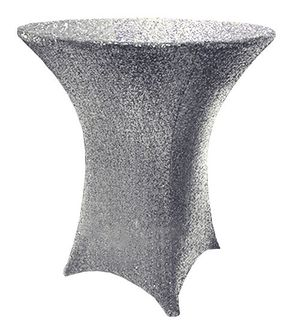 "36""x 42"" Cocktail Sequin Spandex Table Covers (8 Colors)"