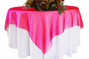 """54"""" Square Organza Table Overlays (41 colors)"""