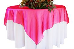 "54"" Square Organza Table Overlays (41 colors)"