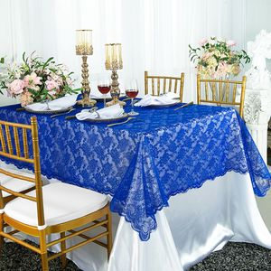 """54""""x 108"""" Rectangular Lace Table Overlays (24 Colors)"""