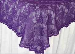 "54""x 108"" Rectangular Lace Table Overlays - Regency 90963 (1pc/pk)"