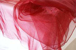 54x108 Rectangle Organza Seamless Table Overlay- Burgundy 53910(1pc/pk)