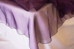 54x108 Rectangle Organza Seamless Table Overlay- Eggplant 53945(1pc/pk)