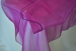 54x108 Rectangle Organza Seamless Table Overlay- Purple 53943(1pc/pk)