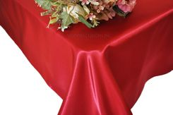54x108 Rectangle Satin Table Overlay - Apple Red 50908 (1pc/pk)
