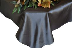 54x108 Rectangle Satin Table Overlay - Pewter 50960 (1pc/pk)