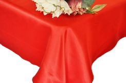 54x108 Rectangle Satin Table Overlay - Red 50912 (1pc/pk)