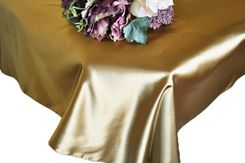 54x108 Rectangle Satin Tablecloth - Antique Gold 50929(1pc/pk)