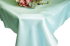 54x108 Rectangle Satin Tablecloth - Baby Blue 50920(1pc/pk)