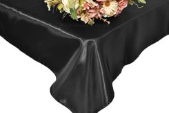 54x108 Rectangle Satin Tablecloth - Black 50939(1pc/pk)