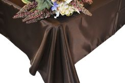 54x108 Rectangle Satin Tablecloth - Chocolate 50991(1pc/pk)