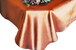 54x108 Rectangle Satin Tablecloth - Cognac 50957(1pc/pk)