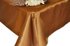 54x108 Rectangle Satin Tablecloth - Copper 50941(1pc/pk)