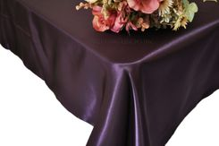 54x108 Rectangle Satin Tablecloth - Eggplant 50945(1pc/pk)