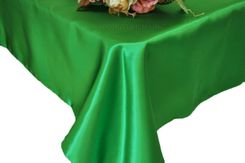 54x108 Rectangle Satin Tablecloth - Emerald Green 50938(1pc/pk)