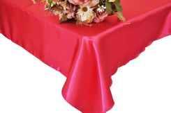 54x108 Rectangle Satin Tablecloth - Fuchsia 50909 (1pc/pk)