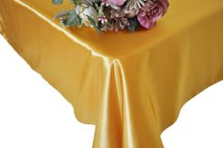 54x108 Rectangle Satin Tablecloth - Gold 50927(1pc/pk)