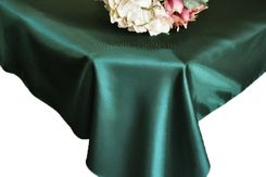 54x108 Rectangle Satin Tablecloth - Holly / Hunter Green 50919 (1pc/pk)