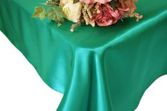 54x108 Rectangle Satin Tablecloth - Jade 50926(1pc/pk)