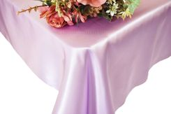 54x108 Rectangle Satin Tablecloth - Lavender 50911(1pc/pk)