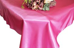 54x108 Rectangle Satin Tablecloth - Magenta / Azalea 50936(1pc/pk)