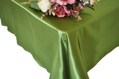54x108 Rectangle Satin Tablecloth - Moss Green 50917(1pc/pk)