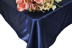 54x108 Rectangle Satin Tablecloth - Navy Blue 50923(1pc/pk)