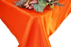 54x108 Rectangle Satin Tablecloth - Orange 50933 (1pc/pk)