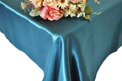 54x108 Rectangle Satin Tablecloth - Peacock 50959(1pc/pk)