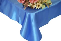 54x108 Rectangle Satin Tablecloth - Periwinkle / Cornflower 50925(1pc/pk)