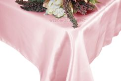 54x108 Rectangle Satin Tablecloth - Pink 50905(1pc/pk)