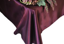 54x108 Rectangle Satin Tablecloth - Plum 50965(1pc/pk)