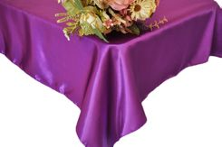 54x108 Rectangle Satin Tablecloth - Purple 50943(1pc/pk)