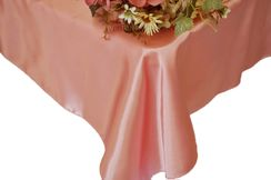 54x108 Rectangle Satin Tablecloth - Rose Pink 50907 (1pc/pk)