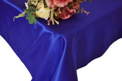 54x108 Rectangle Satin Tablecloth - Royal Blue 50922(1pc/pk)