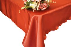 54x108 Rectangle Satin Tablecloth - Rust 50947(1pc/pk)