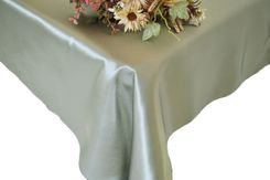 54x108 Rectangle Satin Tablecloth - Silver 50940(1pc/pk)