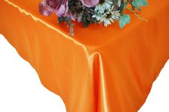 54x108 Rectangle Satin Tablecloth - Tangerine 50951(1pc/pk)