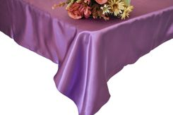 54x108 Rectangle Satin Tablecloth - Victoria Lilac 50953(1pc/pk)