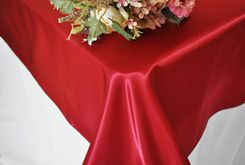 54x108  Rectangular Satin Table Overlays (57 colors)