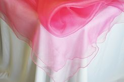 "54"" Square Organza Table Overlays - Bubble Gum 51935 (1pc/pk)"
