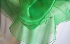 "54"" Square Organza Table Overlays - Emerald Green 51938 (1pc/pk)"