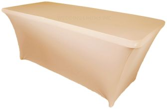 6 Ft Rectangular Spandex Table Cover - Champagne 64128 (1pc/pk)