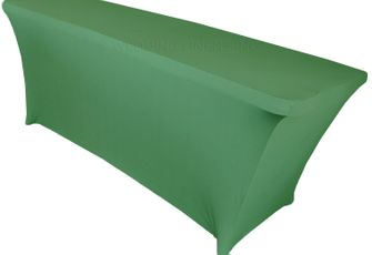 6 Ft Rectangular Spandex Table Cover - Clover 64148 (1pc/pk)