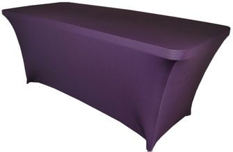 6 Ft Rectangular Spandex Table Cover - Eggplant 64145 (1pc/pk)