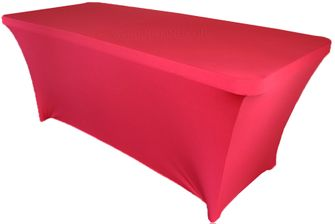 6 Ft Rectangular Spandex Table Cover - Fuchsia 64109 (1pc/pk)