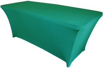 6 Ft Rectangular Spandex Table Cover - Jade 64126 (1pc/pk)
