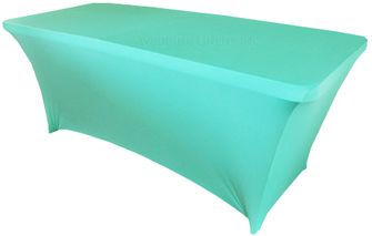 6 Ft Rectangular Spandex Table Cover - Pool Blue 64178 (1pc/pk)
