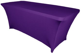 6 Ft Rectangular Spandex Table Cover - Regency 64163 (1pc/pk)
