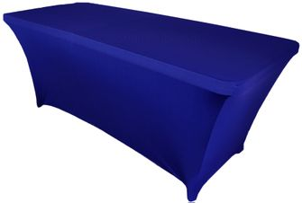 6 Ft Rectangular Spandex Table Cover - Royal Blue 64122 (1pc/pk)